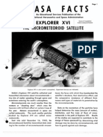 NASA Facts Explorer XVI the Micro Meteoroid Satellite