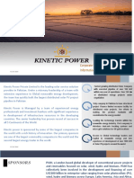 Corporate summary Kinetic Power