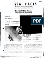 Nasa Facts Explorer Xxix - Equipment, Ground Facility, And Launch Vehicle