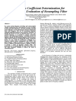 Attenuation Coefficient Determination for Performance Evaluation of Resampling Filter