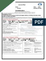 present continous unit 1 lesson plang