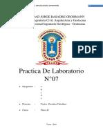 PRACTICA DE  N°07g