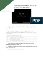Tips Para Programar Orientado a Objetos Con Csharp 2[1]