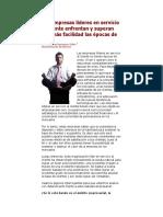 DOCUMENTO DE APOYO 3 - EMPRESAS LIDERES EN SERVICIO AL CLIENTE
