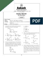 NTSE Practice Sheet-01 by AAKASH Institute