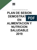 plan de sesion demostrativa de alimentos