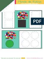 Grafomotricidad de Formas de Elmer By Mundo de Rukkia (A4)