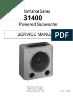 JBL PS1400 Performance Series, Subwoofer Sm