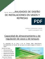 5.1 GENERALIDADES DE DISEÑO DE INSTALACIONES EN VASOS Y