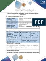 Guía de actividades y rúbrica de evaluación - Pre-tarea - Identificar términos relacionados con las competencias de la ingeniería