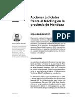 Acciones judiciales frente al fracking en Mendoza