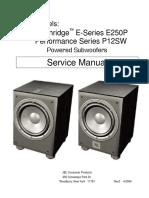 JBL_E250P,P12SW Subwoofers Series Sm