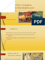 Implementos y Equipos Agrícolas Impulsados por Animales