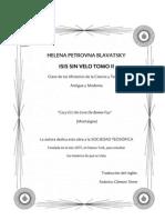 Blavatsky, Helena - Isis Sin Velo Volumen II