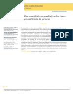 Análise quantitativa e qualitativa dos riscos de uma refinaria de petróleo