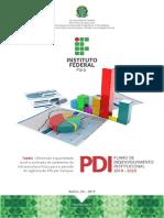 1 - Tabela - Dimensão e quantidade atual e estimada de ambientes de infraestrutura física para o período de vigência do PDI por Campus.pdf