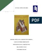 Ensayo Historia crítica de la arquitectura moderna