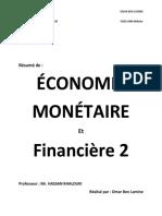 Economie montaire et financiere