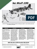 Avion RC BMI Focke Wulf 190_BMI