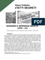 Klaus Polkehn i Contatti Segreti Sionismo e Germania Nazista (1933 – 41)