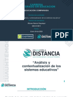 3.2 Presentación Análisis y contextualización de los sistemas educativos.