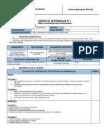 SESIONES DE APRENDIZAJE 01 - 4PRP2020