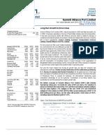 Financial Valuation of Summit Alliance Port Ltd