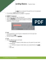 Keyboarding Basics - Filled In Notes