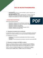 RECEPTORES DE NEUROTRANSMISORES