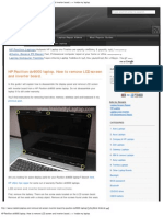 HP Pavillion Dv9000 Laptop. How to Remove LCD Screen and Inverter Board. _ I