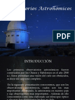 Observatorios Astronómicos 2