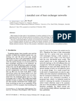 International Journal of Production Economics Volume 29 issue 3 1993 [doi 10.1016_0925-5273(93)90035-j] K. Suaysompol; R.M. Wood -- Estimation of the installed cost of heat exchanger networks