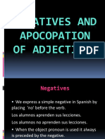 Negatives and apocopation
