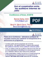 Derby Davis Coordination et coopération entre les SAI et les auditeurs internes du secteur public