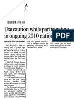 Use caution while participating in ongoing 2010 national census