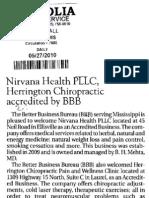 Nirvana Health, PLLC, Herrington Chiropractic accredited by BBB