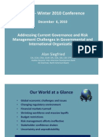 Siegfried Addressing Current Governance and Risk Management Challenges in Governmental and International Organizations