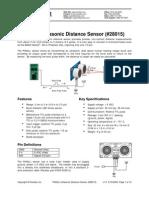 PING-Ultrasonic Distance Sensor