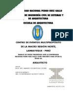 Centro de Eventos Multipropósito de la Madro Región Norte