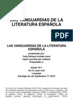LAS VANGUARDIAS DE LA LITERATURA ESPAÑOLA.pptx
