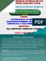 MAESTRIA EN INGENIERIA CIVIL MEDIDAS DE TENDENCIA CENTRAL