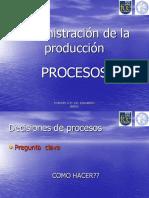 Administración de la producción PROCESOS