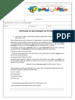 Verificação de Aprendizagem de Português Novembro.