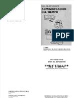 Administración del tiempo - guía del estudiante - unam -sep