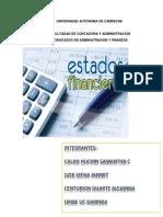 De un concepto de ANALISIS e INTERPRETACIOIN de los estados Financieros