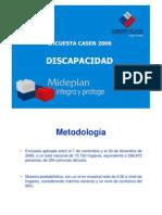 Resultados Casen 2006 sobre discapacidad