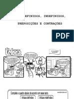 Artigos Definidos e Indefinidos, Preposições e Contrações