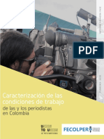 Caracterizacion Trabajo Periodistas Colombia
