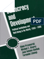 Adam Przeworski et al. Democracy and development. Political institutions and well-being in the world,1950-1990 (2000)