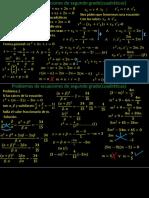 ecuaciones cuadratica